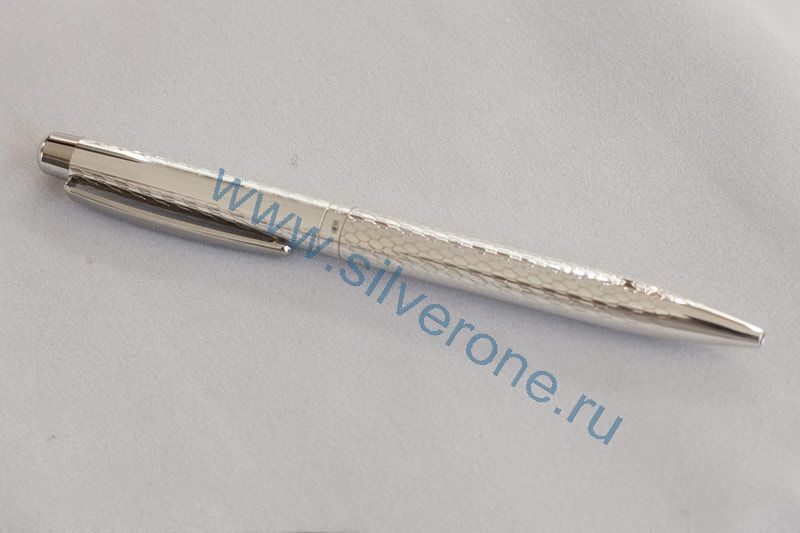Серебряная ручка шариковая 61052