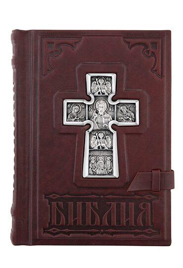 Библия с серебром «Спаситель».
