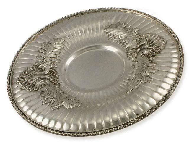 Блюдо серебряное под кувшин Ракушка