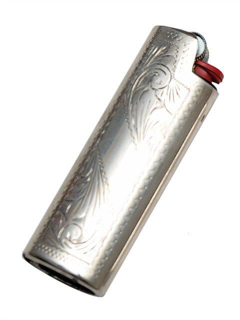 Чехол для зажигалки серебряный