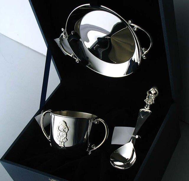 Детский серебряный набор Малышка 3 предмета