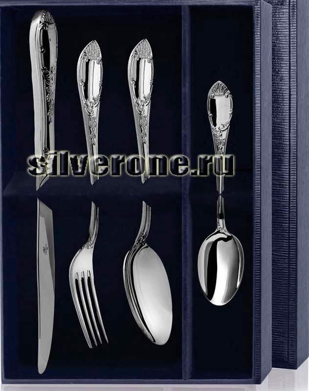 Набор десертный Престиж серебряный 4 предмета