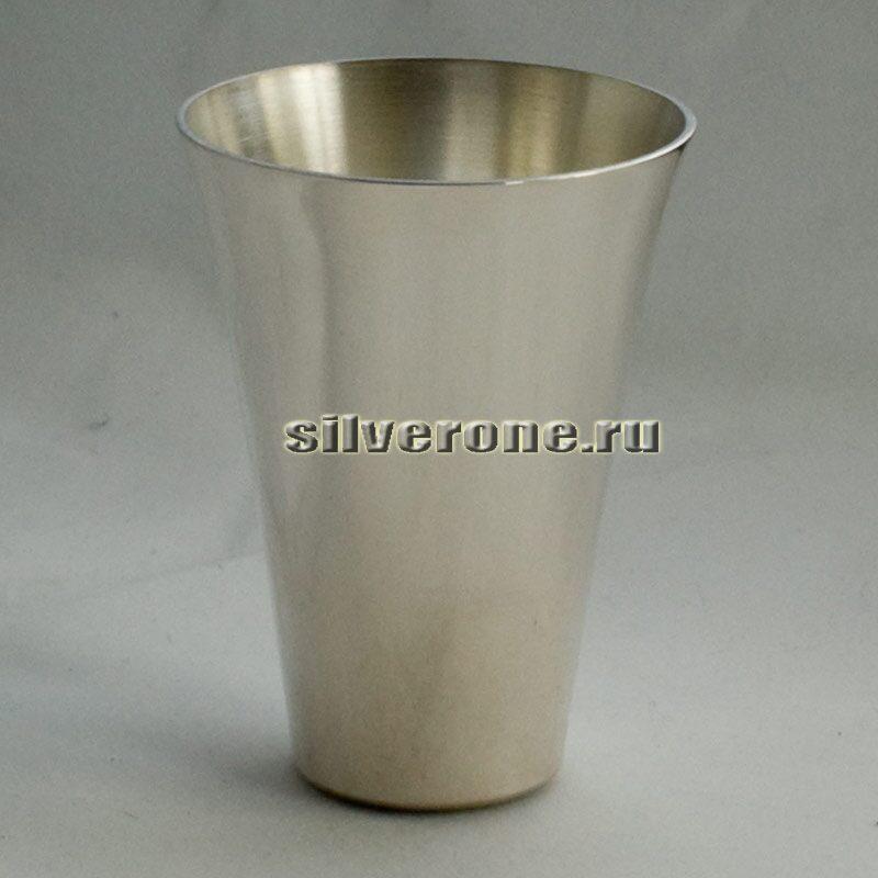 Стопка серебряная гладкая
