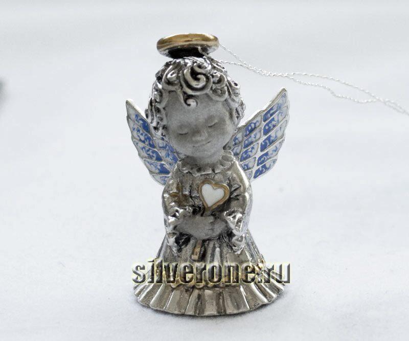 Серебряный колокольчик Ангелок