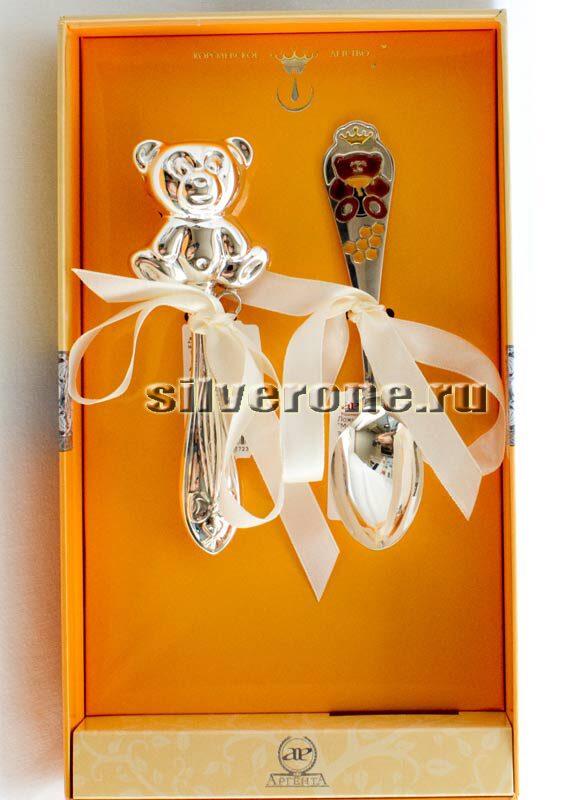 Серебряный набор Медовый мишка