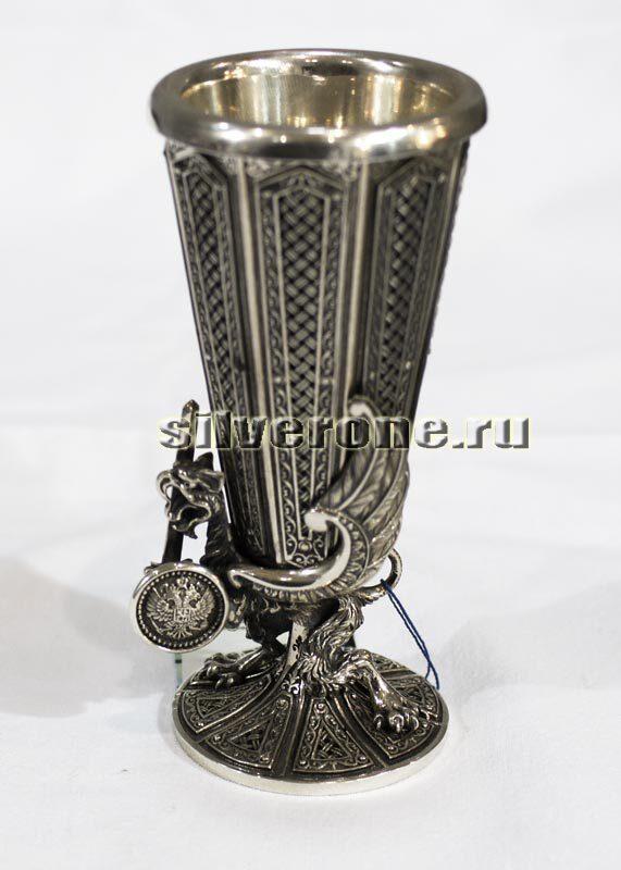Серебряная рюмка Дракон