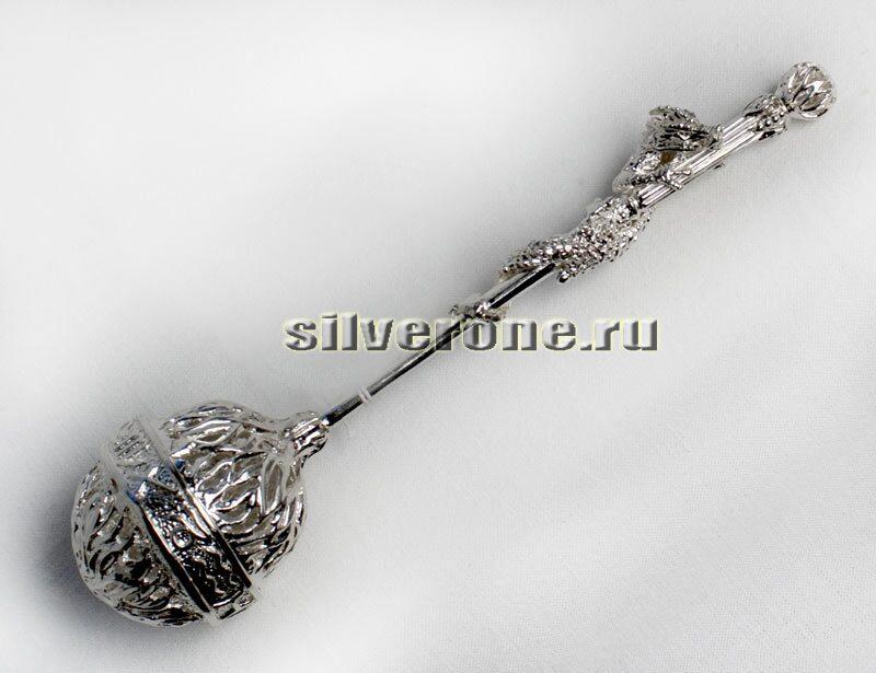 Серебряное ситечко Дракон-зодиак