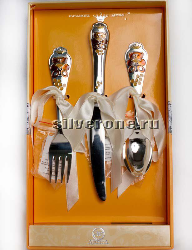 Серебряные приборы Медовый Мишка