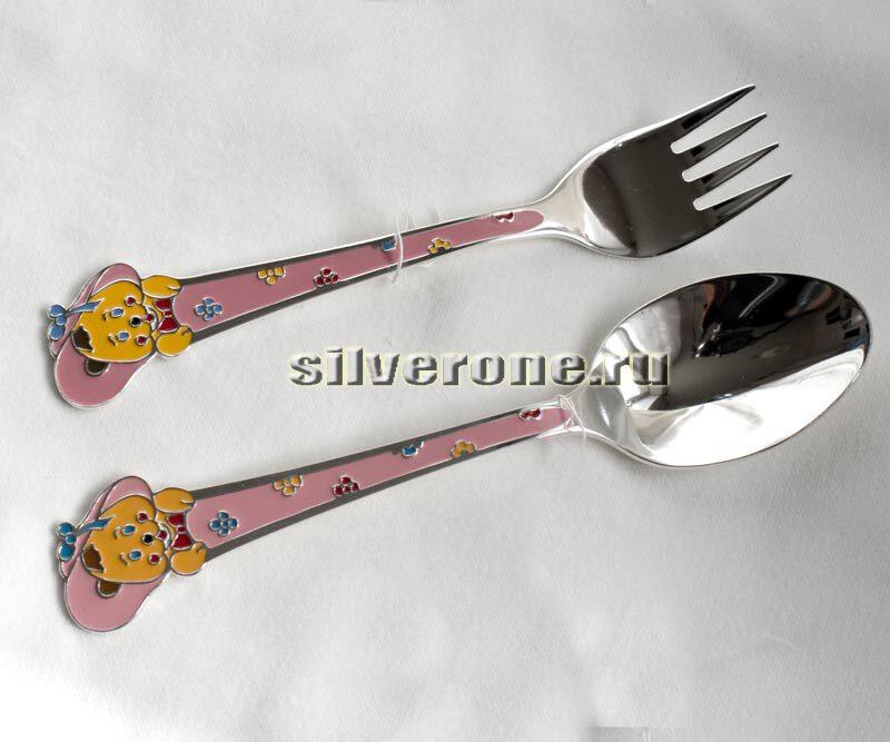 Серебряные приборы для девочки