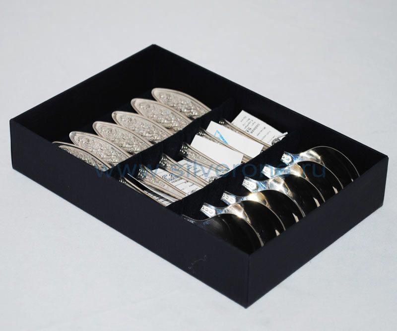 Набор чайных серебряных ложек Морозко