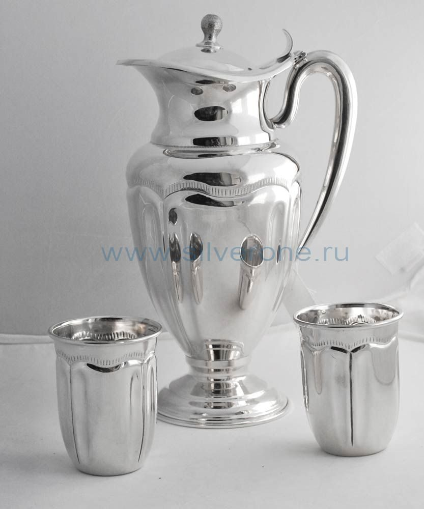 Набор кувшин серебряный со стаканами