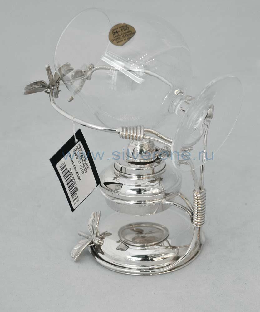 Набор серебряный с подогревом Стрекоза