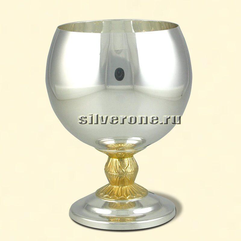 Серебряный бокал коньячный
