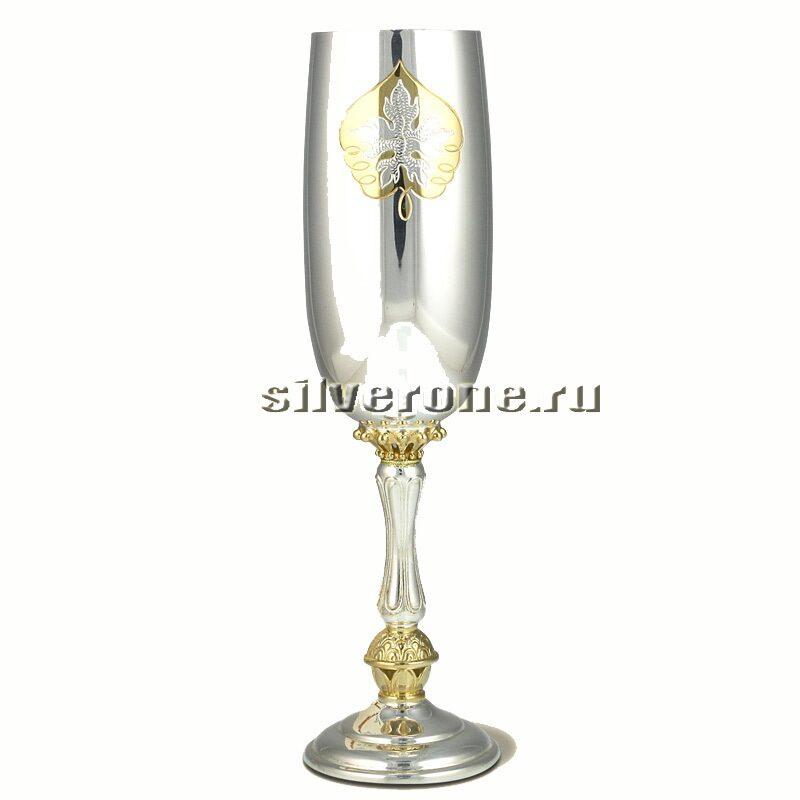 Серебряный бокал для вина Клен