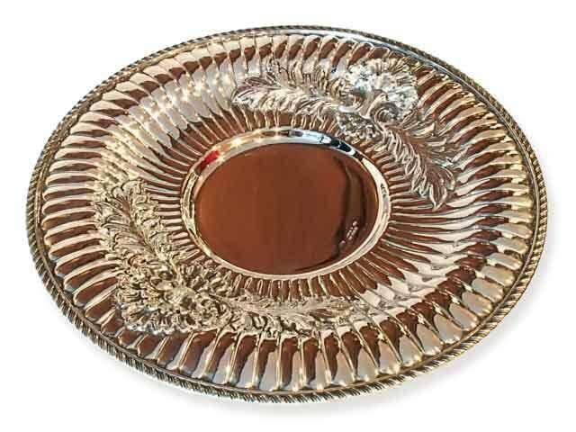 Блюдо серебряное под кувшин Ракушка большой