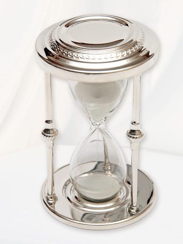 Песочные часы серебро
