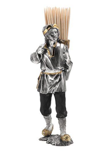 Серебряная подставка для зубочисток Крестьянин