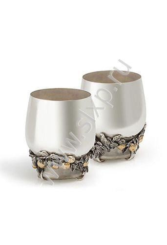 Серебряные стаканы Яблочный Спас