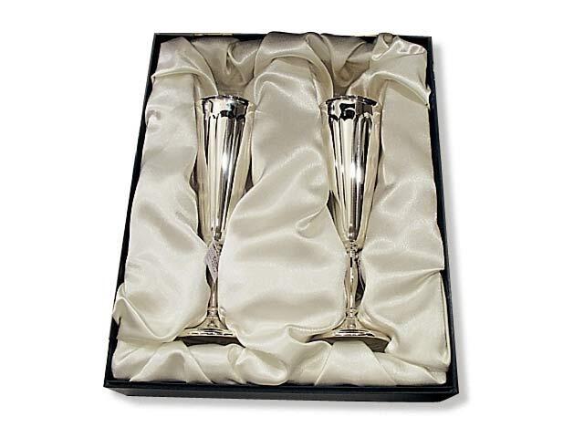 Фужеры для шампанского серебряные