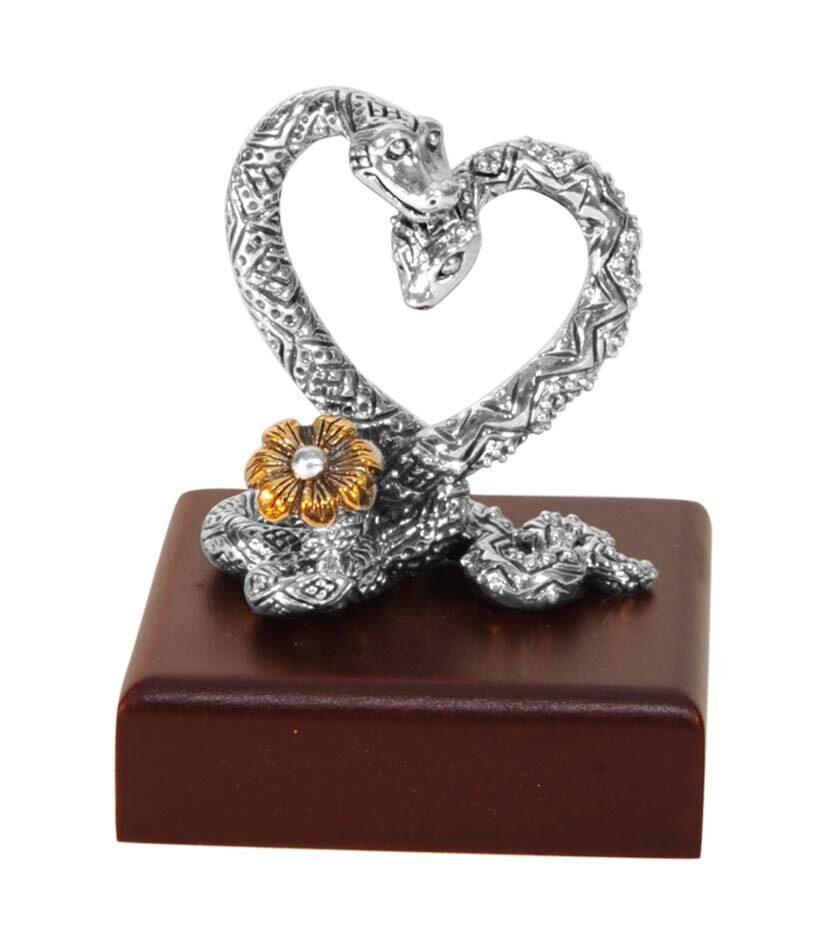фигурка сердце из серебра